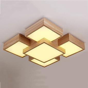 GUO - lámpara de techo nórdico dormitorio registro luz cielo ...