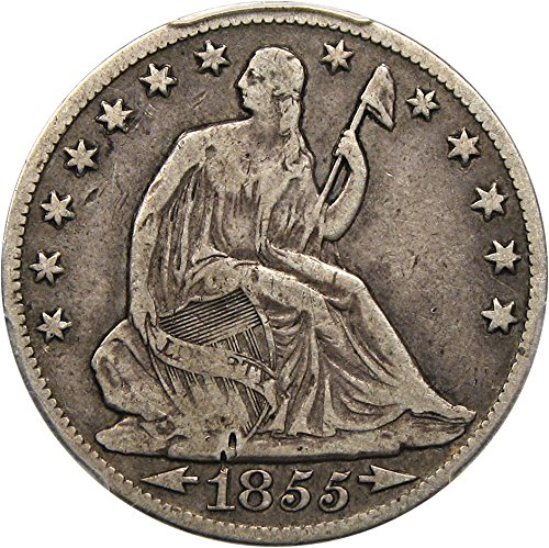 1855 O Liberty Seated Half Dollars Arrows Half Dollar F15 PCGS