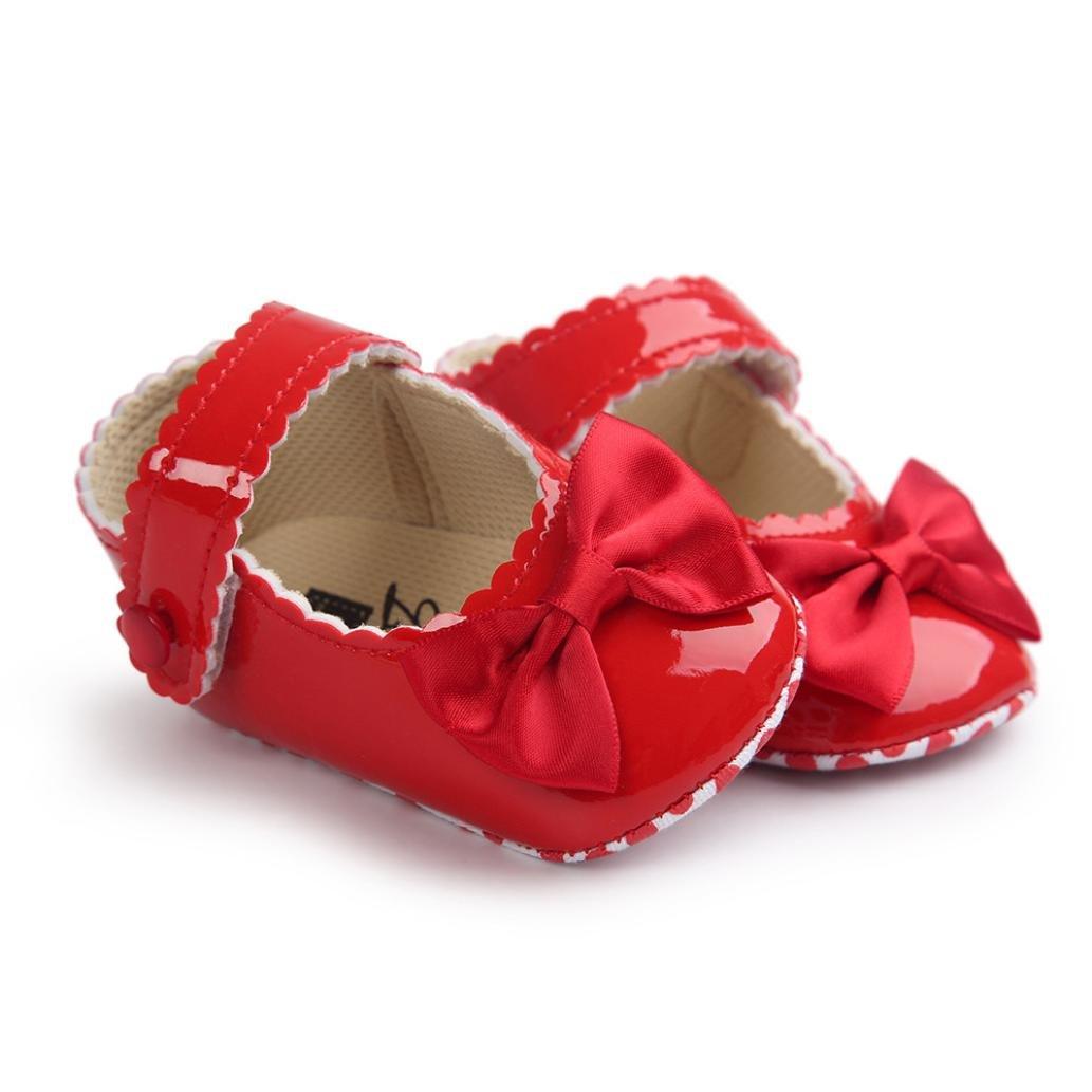 DAY8 Chaussure Bébé Fille Princesse Chaussure Bébé Fille Premier Pas Bapteme  Bowknot Fashion Chaussures Bébé Garçon 29bf10a649e5