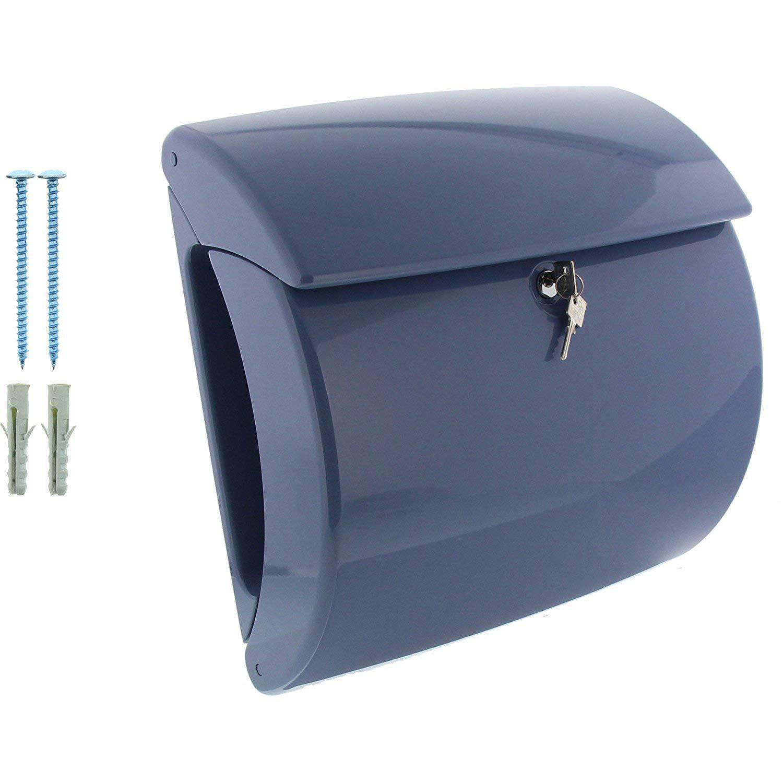Piano 886 M A4 Einwurf-Format BURG-W/ÄCHTER Briefkasten mit integriertem Zeitungsfach in Klavierlack-Optik Merlot EU Norm EN 13724 Hochwertiger Kunststoff