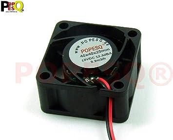 POPESQ® 1 Piezas x Ventilador Super Silencioso 12V 40mm x ...