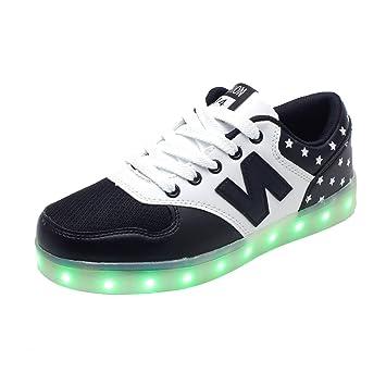 7 Colores USB Recargable LED Zapatos Luz Intermitente Sneaker Zapatilla de Deporte Para Unisex Hombres Mujeres