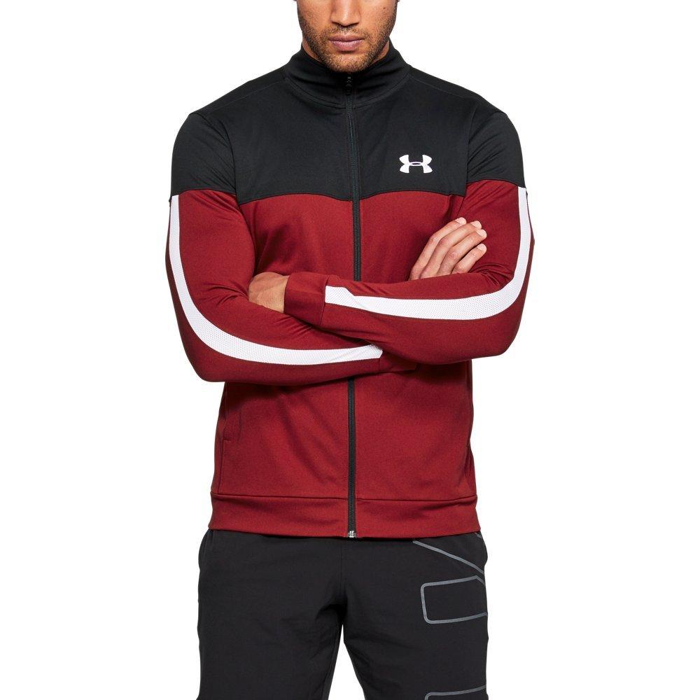 Under Armour Men's Sportstyle Pique Jacket, Rapture Red (620)/White, XXX-Large