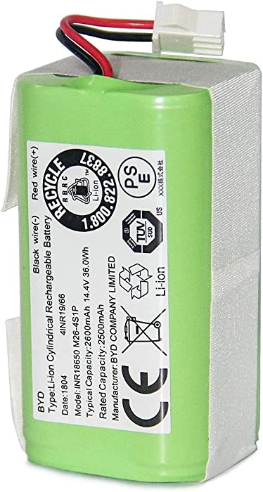 Coredy Replacement 2600mAh Li-ion Battery for All Robot Vacuum Cleaner