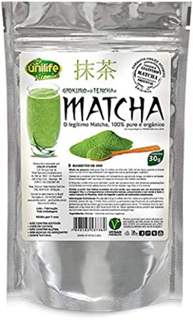 Matcha Puro Orgânico Solúvel 30g Unilife