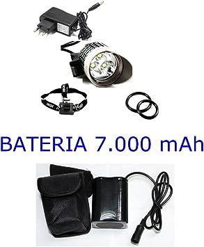 LUZ LED BICICLETA 3 LED XML T6 3800 LUMEN, POTENTE BATERIA 7000 ...