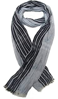 Générique Foulard, chèche écharpe pour homme bleu clair dominant, 180 x 60  cm. d2ff26c13cd