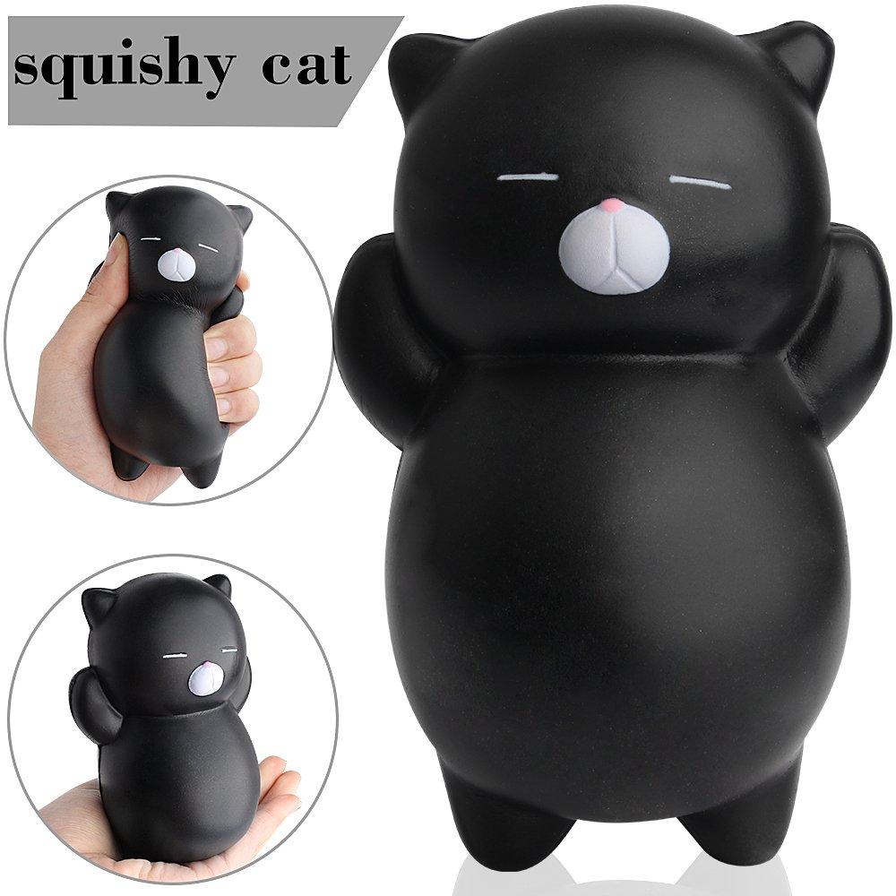 Squishy Jumbo gatto nero kawaii