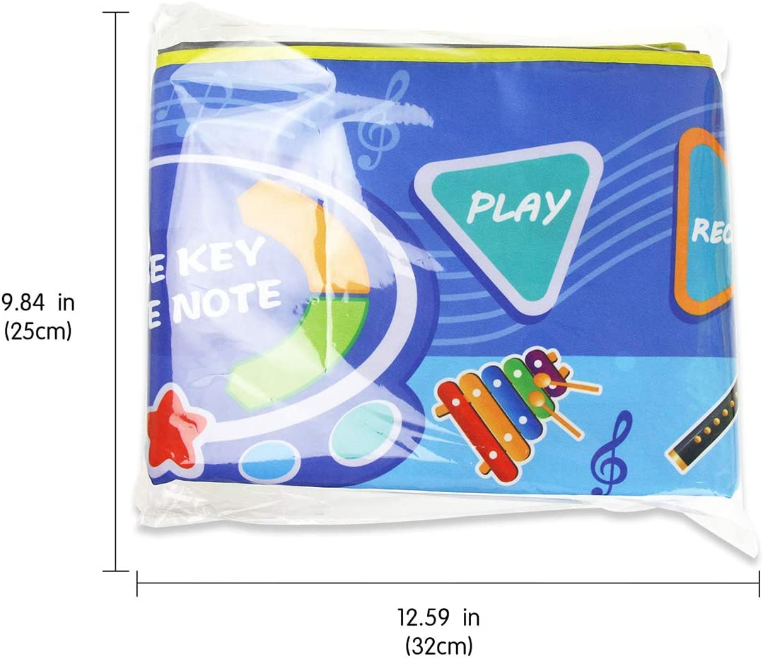 Jenilily Musical Piano Mat Dance Mat 51in/×19in Instrumental Keyboard Dance Floor Music Mat Toys Baby Boy Girl Early Education Gift