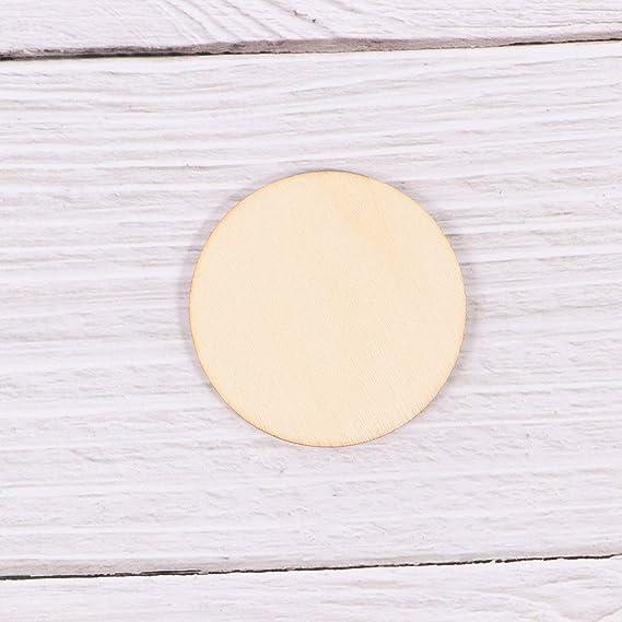 Compleanno SUPVOX Artigianato 50 mm Decorazione per Matrimonio esagono di Legno Naturale bricolage 50 Pezzi Fettuccia di Legno Grezzo