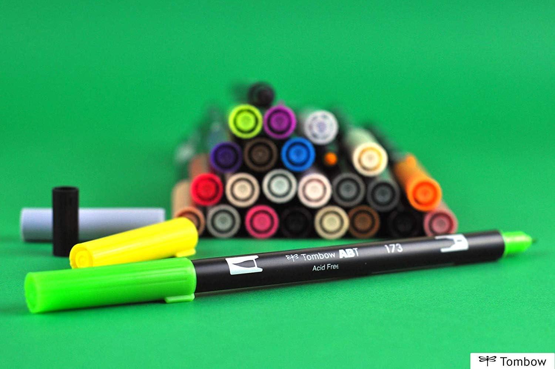 geblistert light gr/ün Tombow ABT-195-1P Fasermaler Dual Brush Pen mit zwei Spitzen
