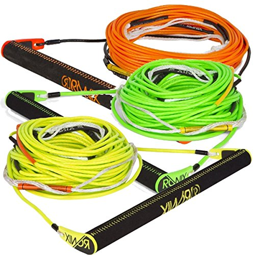Ronix Combo 6.0 Nylon Bar Lock Hide Stitch Grip w/80 Foot 6-Sect R8 Rope (Assorted) Wakeboard Rope Handle Combo