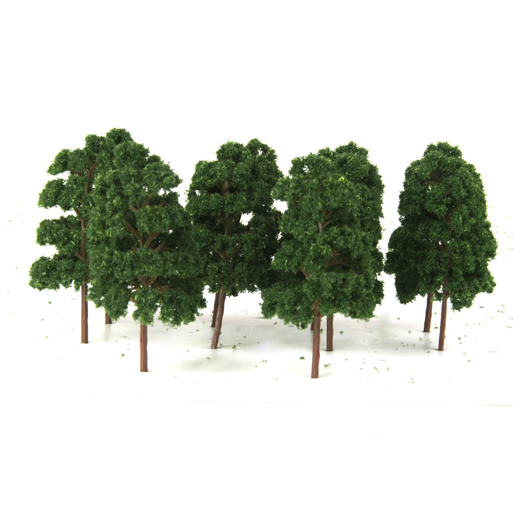 10PCS Model Trees Train Railway Wargame Diorama Architecture Layout HO Scale Generic