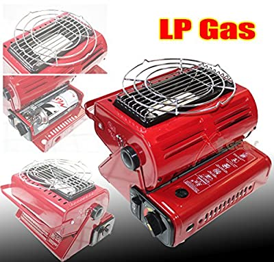 Double Coherent Butane Gas Ceramic Burner Source Heater Warmer OutDoor Camping
