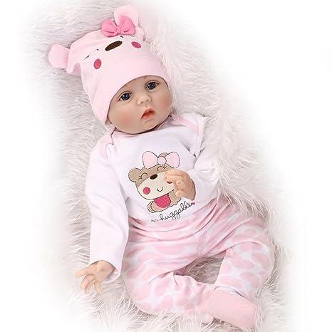 9af60bf21b74c ZIYIUI Realistica 22 pollici 55 centimetri Reborn Bambola del bambino  simulazione del silicone vinile Magnetica Bocca