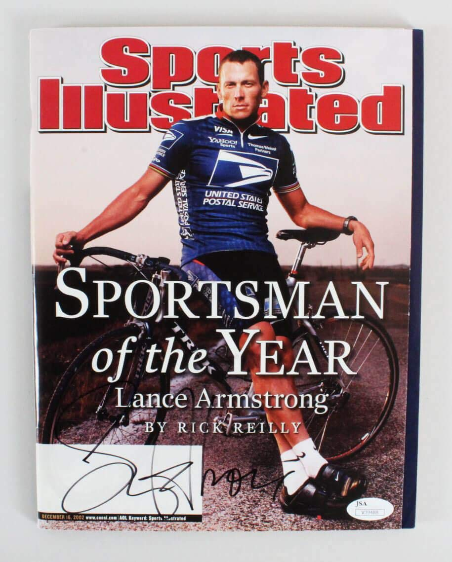 Lance Armstrong Signed Magazine Sports Illustrated COA JSA Certified Autographed Sports Magazines
