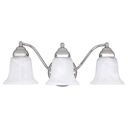 Capital Lighting CH Vanity With Faux White Alabaster Glass - Bathroom vanity lights chrome finish