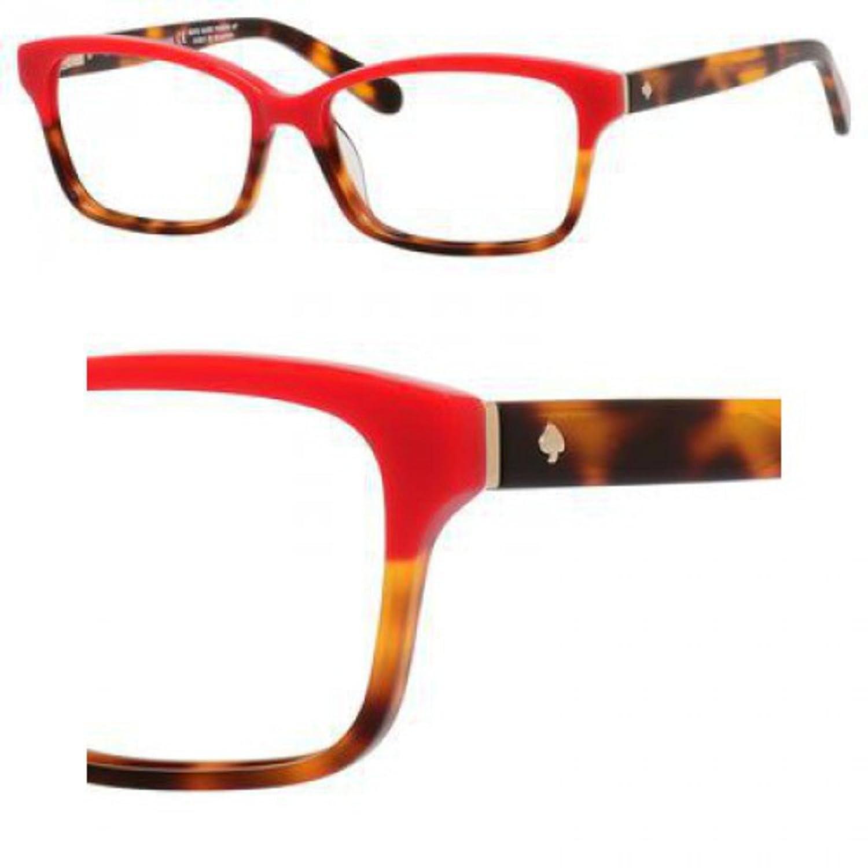 61b6f77e3cd3 Eyeglasses Kate Spade Sharla 01Q0 Red Tortoise Fade at Amazon Men s  Clothing store