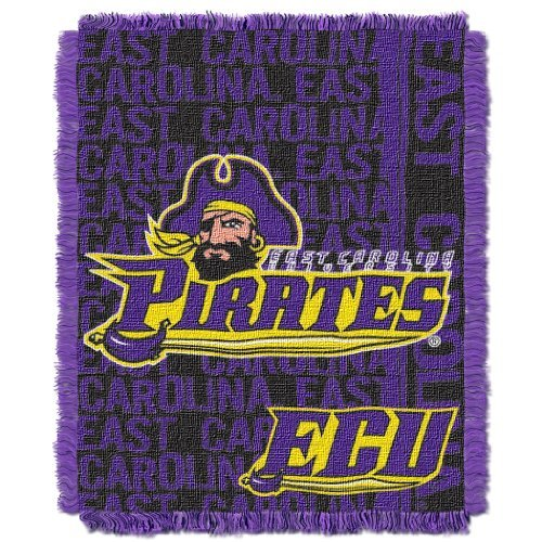 The Northwest Company Officially Licensed NCAA East Carolina Pirates Double Play Jacquard Throw Blanket, 48
