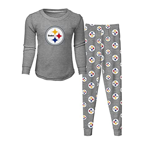 3d32d88c3 Outerstuff Toddler Pittsburgh Steelers Pajama Set Boys Sleepwear Set (3T)
