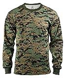 Rothco Long Sleeve T-Shirt, Woodland Digital, Small