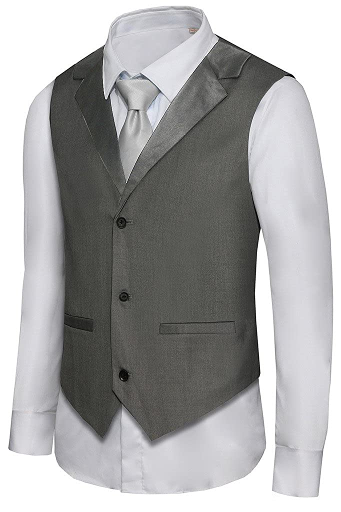 Hanayome Men's Formal Vest Casual Waistcoat Dress Vests Jackets VS05 VS05E1
