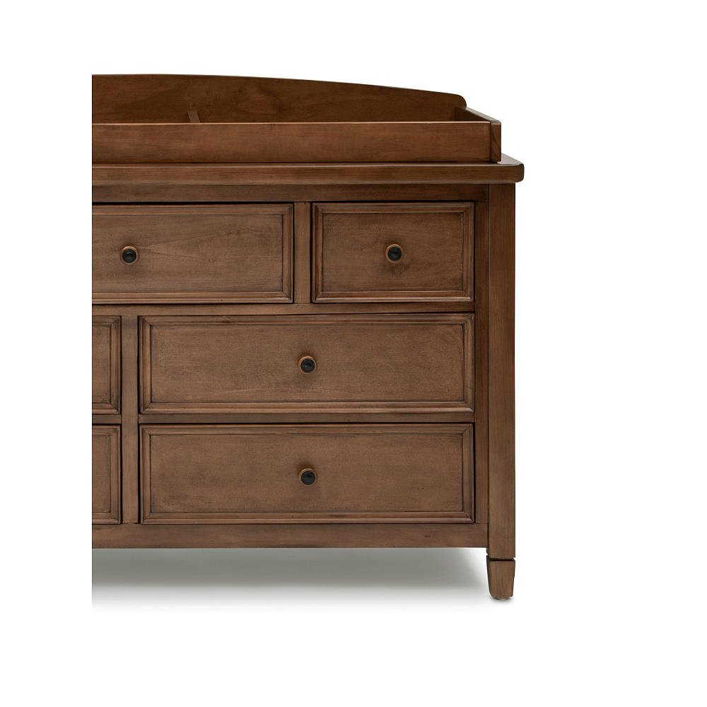 Amazon.com : Simmons Kids Kingsley Changing Topper In Chestnut Finish : Baby