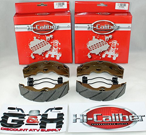 (Two Sets) WATER GROOVED FRONT BRAKE SHOES & SPRINGS for Honda TRX 300 2x4 Fourtrax