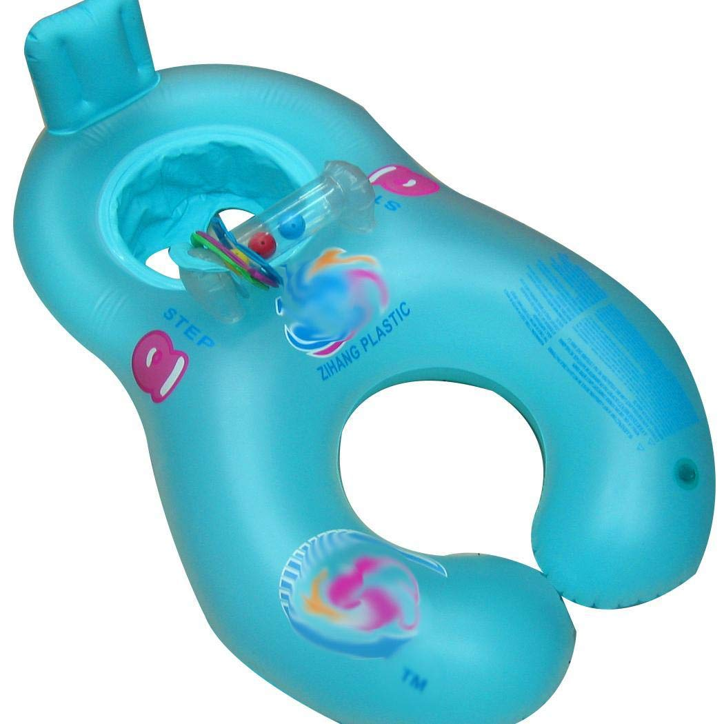 Kindes Inflatable Mother Baby Swimming Ring Pool Float Toy Water Floats for Baby and Parents