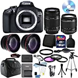 Cheap Canon EOS Rebel 1300D / T6 18MP DSLR Camera with 18-55mm EF-S f/3.5-5.6 + 55-250mm IS II Lens + 16GB Accessory Kit