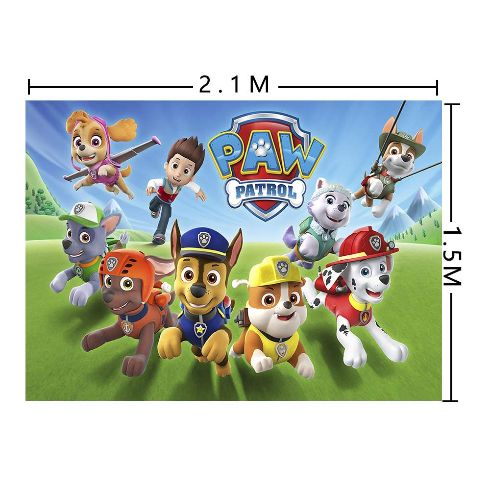 MMY 7x5ft Cartoon Dogs Paw Patrol Photography Backdrop Baby Shower Kids Birthday Party Background Photobooth Props Vinyl Banner Supplies by Fanghui (Image #3)