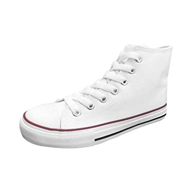 4b57b0bb65f7c Ish Original Official Men Blank High Top Rubber Sole Casual Canvas Sneaker  Shoes