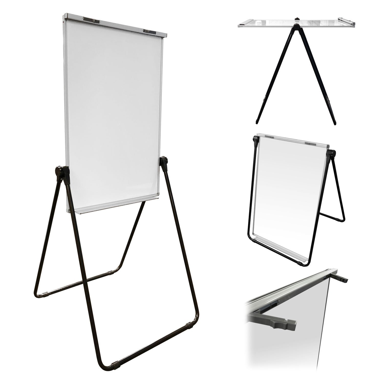 Thornton's Office Supplies Magnetic Double Sided Height Adjustable Dry Erase Flipchart Easel Board, 39'' x 27''