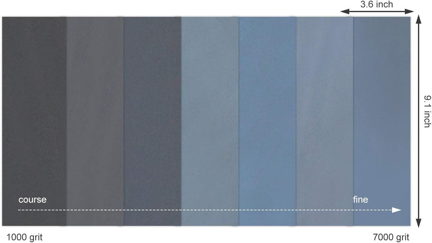 42 St/ück Schleifpapier 1000//1500//2000//2500//3000//5000//7000 K/örnung Schleifpapier Nasstrockenes Schleifpapier f/ür Holz M/öbel Kunststoff Metall Auto Polieren