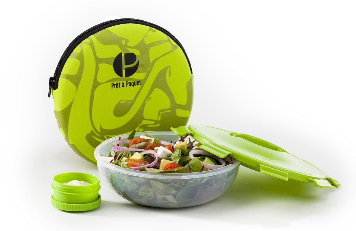 Stylish Sleeved Amazing LEAK-PROOF LUNCH SALAD BOWL 100/% Microwave Ideal Size For You Easy To Clean /& Dry Dishwasher Safe Healthy Lunch