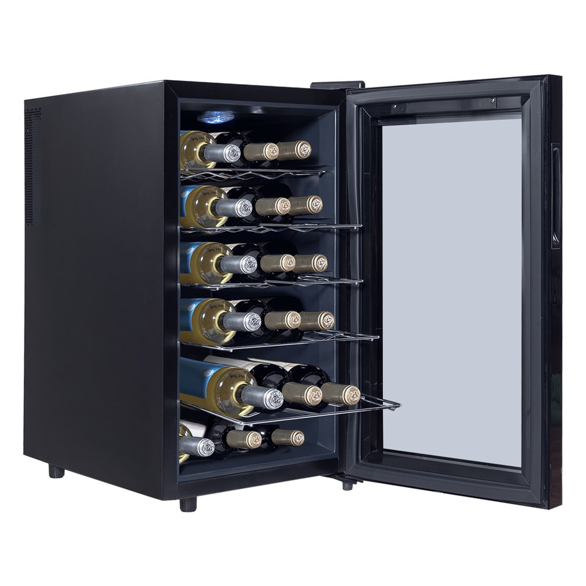 Costway Thermoelectric Wine Cooler Freestanding Cellar Chiller Refrigerator Quiet Compact w/ Touch Control (18 Bottle) by COSTWAY (Image #2)
