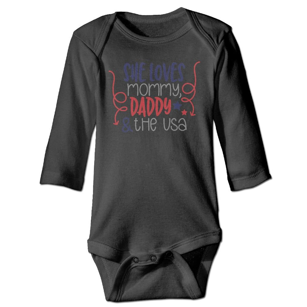 Midbeauty Loves Mommy Daddy Newborn Cotton Jumpsuit Romper Bodysuit Onesies Infant Boy Girl Clothes