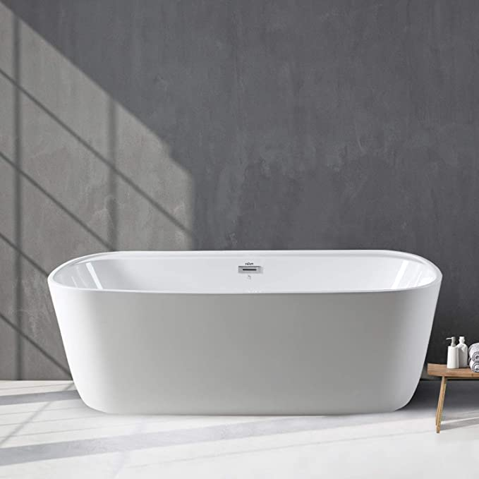 Best Acrylic Bathtub: FerdY 59'' Acrylic Freestanding Bathtub