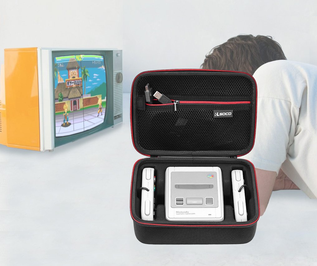 SNES Classic Mini Case -RLSOCO Carrying Case for Super NES Classic Mini2017 / SNES Nintendo Classic Mini 2017