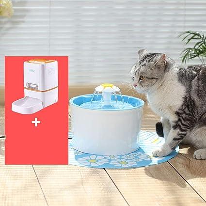 QFFL chongwuyinshuiji Fuente de dispensador de Agua para Mascotas Drinker Ciclo automático para Mascotas 4 Colores