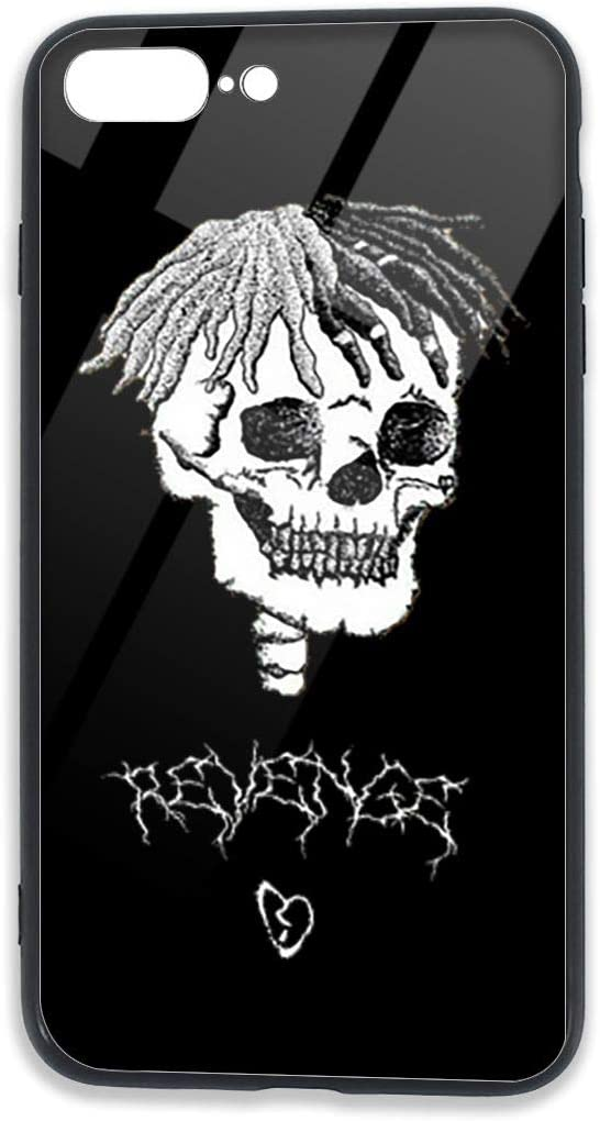 Gaohaifeng8 Xxxtentacion iPhone 7 Plus Case,iPhone 8 Plus Tempered Glass Back Cases,Compatible with Shock Absorption Technology Bumper Soft TPU Cover Case for for iPhone 7/8 Plus