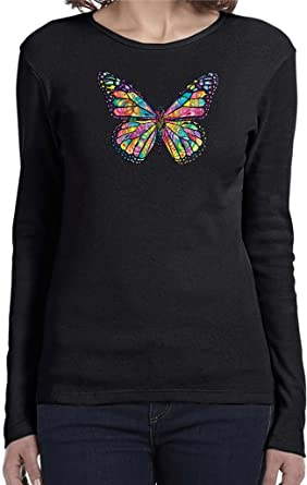 3c344f41 Amazon.com: Buy Cool Shirts Ladies Butterfly T-shirt Neon Butterfly Long  Sleeve: Clothing