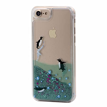 Bling Dynamic Liquid Quicksand Case For Iphone X 5 5s Se 6 6s 7 8 Plus Shiny Love Sequin Silicone Tpu Glitter Sand Case Cover Half-wrapped Case