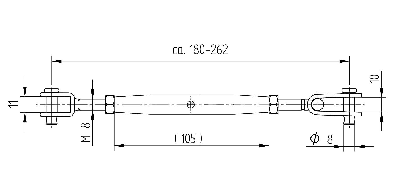 Seilspanner V4A mit zwei Gabeln, Drahtseilstärke 4,0 mm: Amazon.de ...