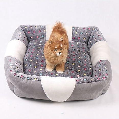 Lamzoom Camas para Perro Deluxe Suave Lavable Apoyo Cálido Perro/Gatón Cama Peluche Impermeable Cesta