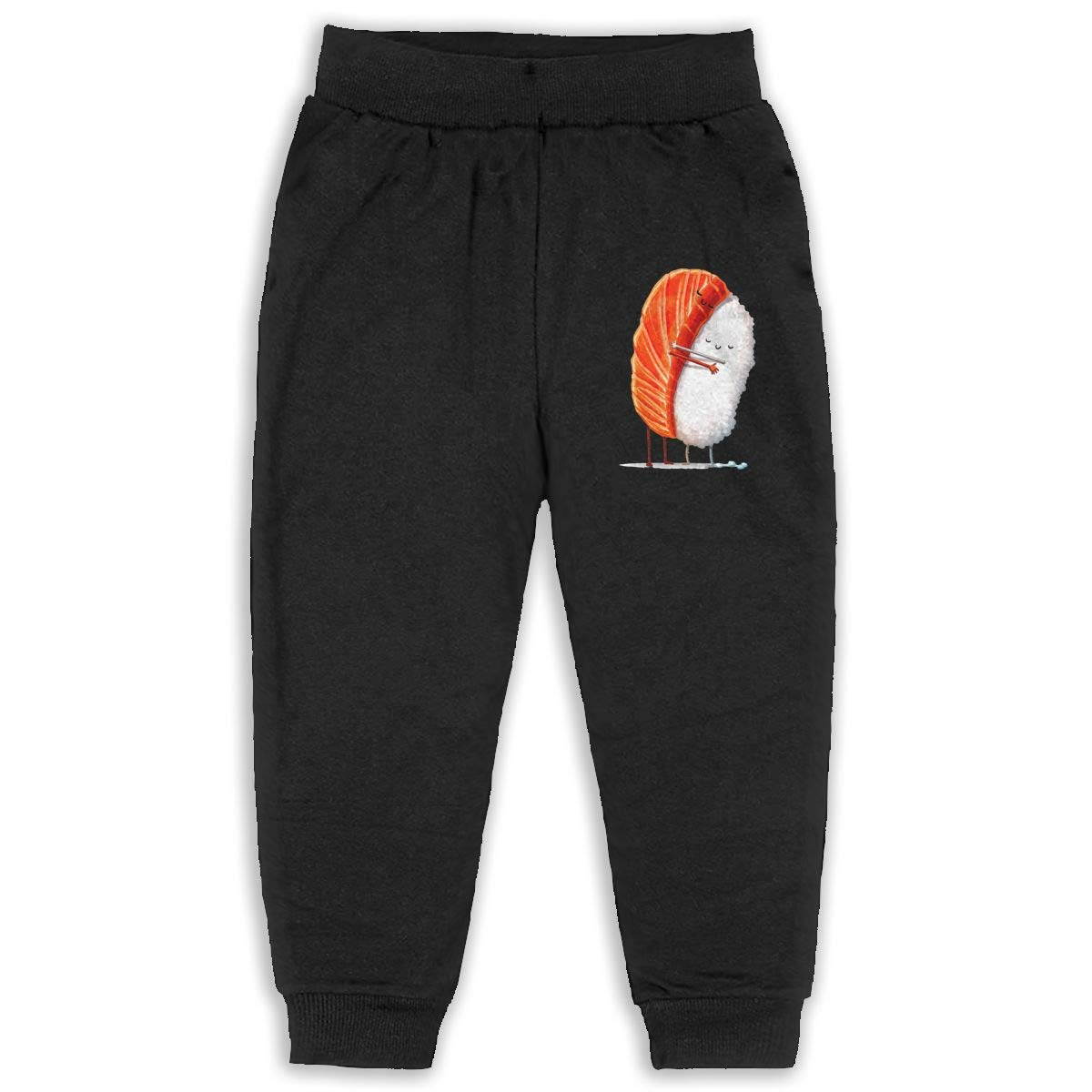 Never-Cold Sushi Hug Funny Maguro Toddler Boys Cotton Sweatpants Elastic Waist Pants for 2T-6T