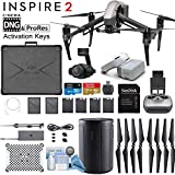 DJI INSPIRE 2 and DJI Goggles Combo with Zenmuse X4S 3-Axis Gimbal/Camera - CinemaDNG & Apple Pro Res License Keys - Pro Bundle