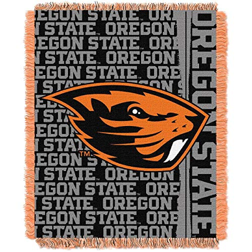 The Northwest Company Oregon State Beavers Double Play Woven Jacquard Throw Blanket ()