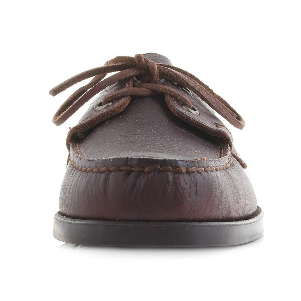 Sebago Dockside Portland Tumb Chaussures Bateau en Cuir pour Homme Marron Mat