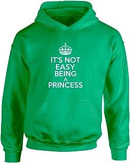 Brand88 - It's Not Easy Being A Princess, Kids Printed Hoodie